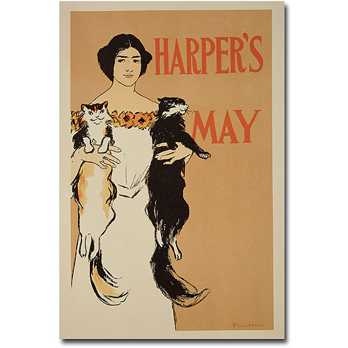 "Trademark Art ""Harper's Magazine, May Issue, 1897"" Canvas Wall Art by Edward Penfield"