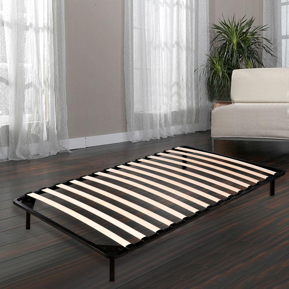 Universal  13'height Wooden Slat Metal Bed Frame Wood Platform Bedroom Mattress Foundation