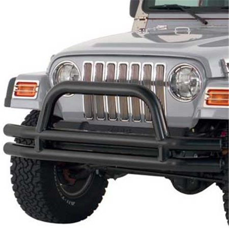 3 in. - Front Tube Bumper with Hoop - Black ()