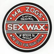 "Mr. Zoggs SEX WAX STICKER 7"" CIRCULAR RED"