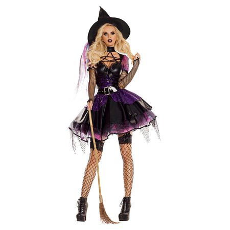 Amethyst Pentagram Witch Adult Costume - X-Large (Girls White Witch Costume)