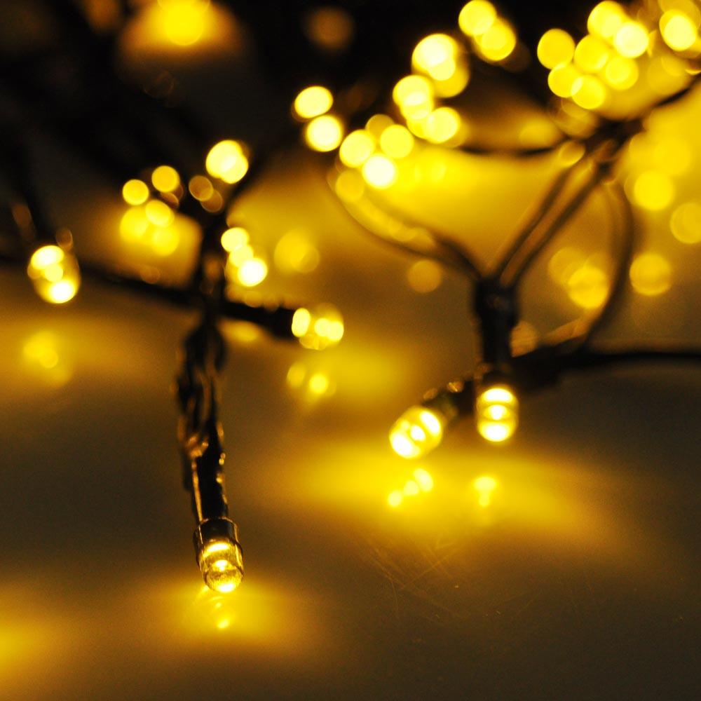 Yescom LEDs Solar Powered String Light Flash Static Lighting Modes ...