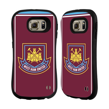 OFFICIAL WEST HAM UNITED FC RETRO CREST HYBRID CASE FOR SAMSUNG PHONES