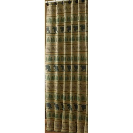 Bear Tracks Shower Curtain (Flexible Shower Curtain Track)