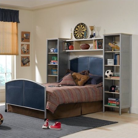Hillsdale Universal Youth Metal Bed With Wall Storage In