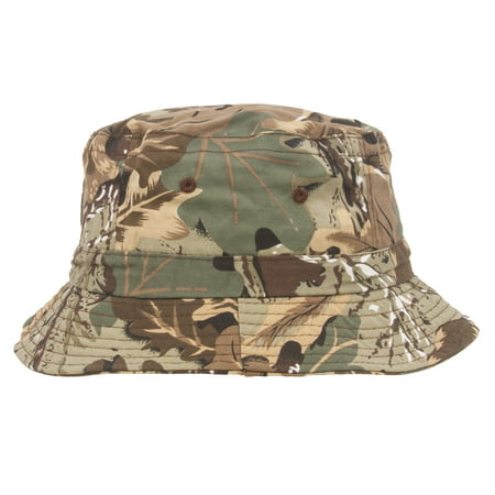 Camo Bucket Hats (Pigment Dyed Bucket Hat, Leaf)