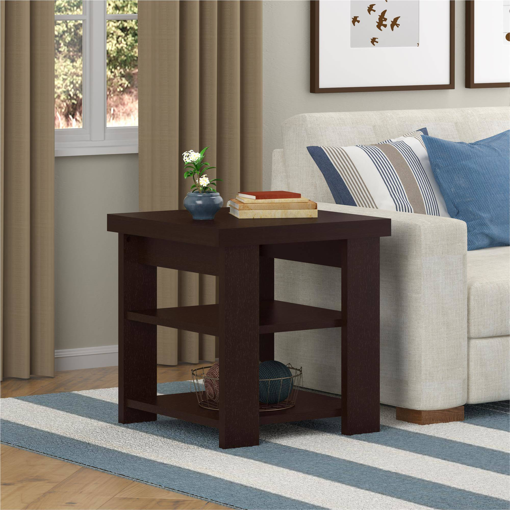 Larkin Espresso End Tables   Value Bundle   Walmart.com