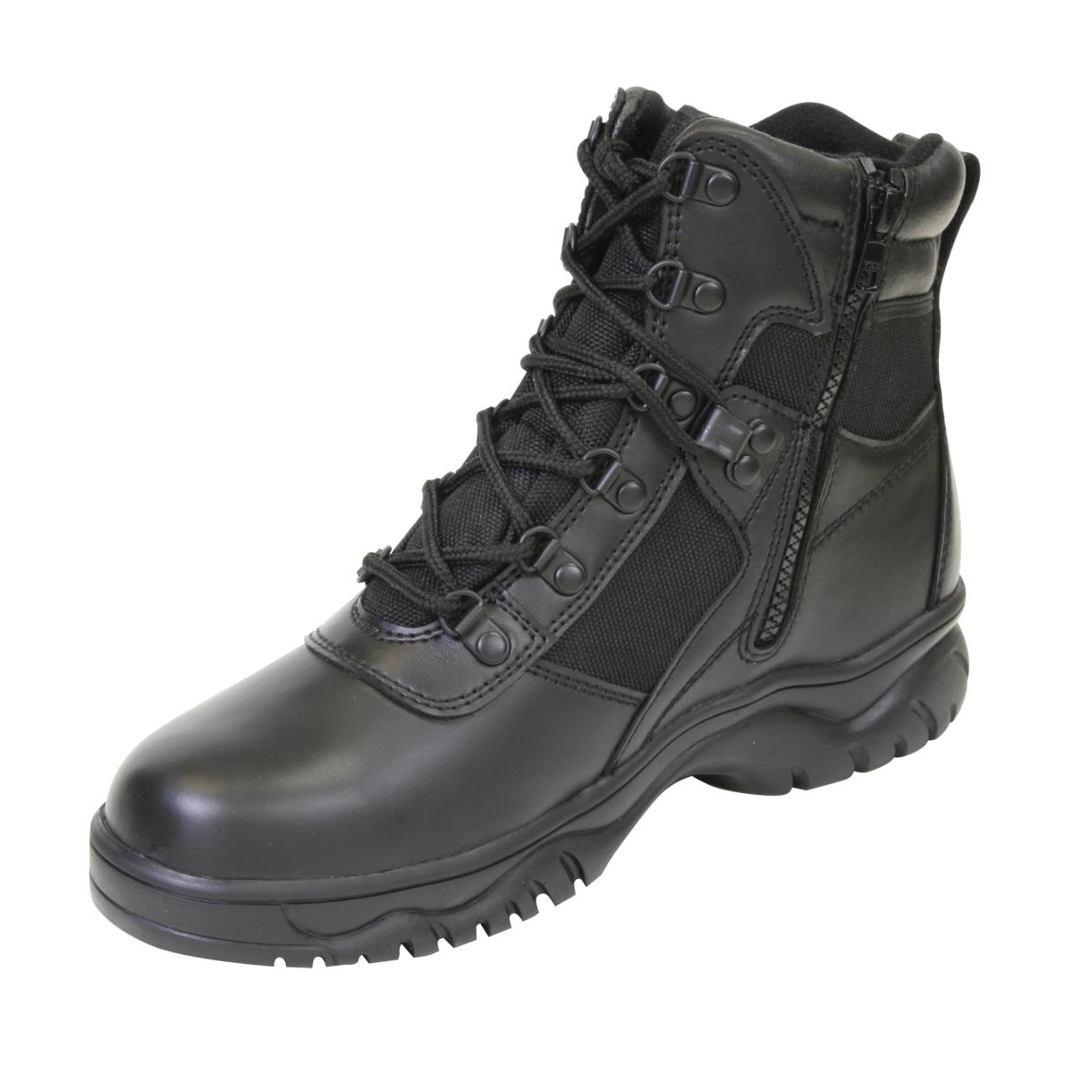 "Rothco 5190 Waterproof 6"" Black Tactical Boot with Side Zipper"