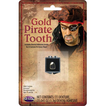 Pirate Unisex Adult Buccaneer Costume Accessory Gold Tooth - Tooth Costumes