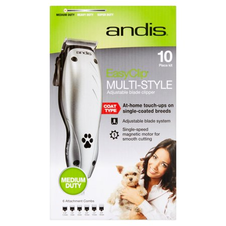 Andis Easy Clip Multi Style Coat Type Adjustable Blade Clipper  10 Count