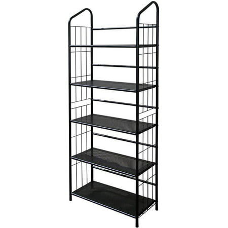 5 Tier Metal Book Shelf Black