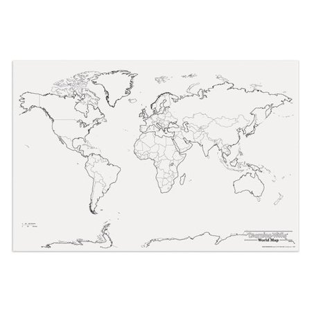 Pacon Corporation Giant World Map Walmartcom - Large world map walmart