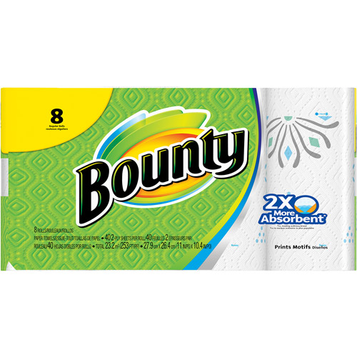 Bounty Paper Towels Fall Prints: Bounty Select A Size Garden Prints Paper Towels, 55 Sheets