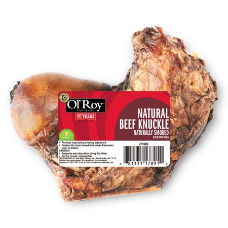 Beef Knuckle Bone (Ol' Roy Natural Beef Knuckle, Naturally Smoked, 1 Pack )
