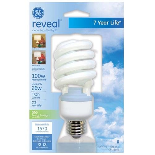 Ge Reveal 26w Cfl T3 Bulb - 26 W - 120 V Ac - Spiral - Soft White - E26 Base - 8000 Hour - 70 Cri - 1each (75408_40)