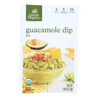 Simply Organic Guacamole Dip Mix - Case of 12 - 0.8 oz.