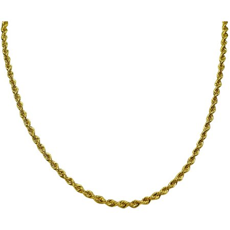 Sterling Silver And 10k Gold Rope Chain 24 Necklace