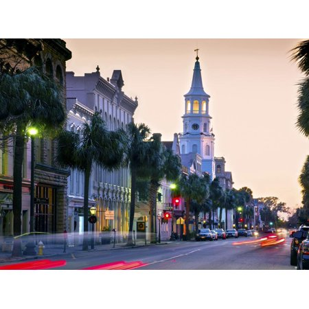 Charleston, South Carolina, Broad Street, Saint Michael's Episcopal Church, Oldest In Charleston, N Print Wall Art By John (Church Street In Charleston)