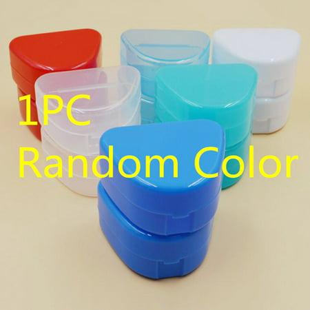 Jeobest 1PC Retainer Case - Mouthguard Container - Dental Orthodontic Retainer Box - Dental Orthodontic Retainer Denture Case Box Mouthguard Container (Color Sent Randomly) MZ ()