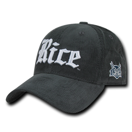 NCAA  Rice Owls University Low Crown Structured Corduroy Baseball Caps Hats (Rice Hats)