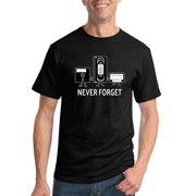 Never Forget | Floppy VHS Cassette Tape | Mens Humor Graphic T-Shirt, Black, 4XL