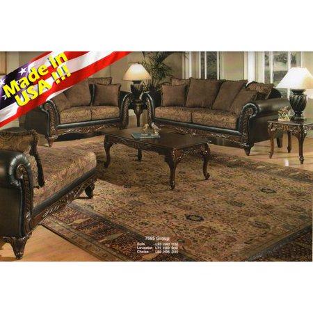 Brilliant Roundhill Furniture San Marino Sofa And Loveseat Set Machost Co Dining Chair Design Ideas Machostcouk