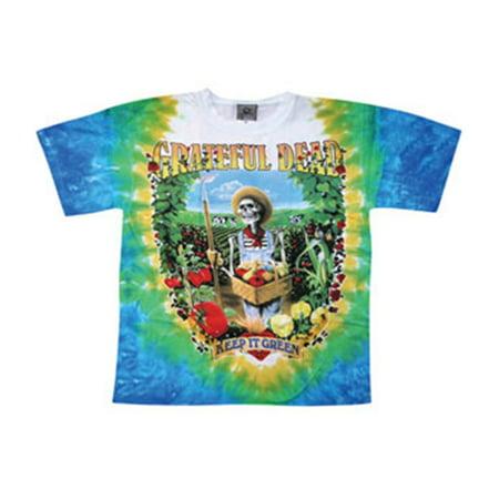 Grateful Dead Mens  Let It Grow Tie Dye T Shirt Multi