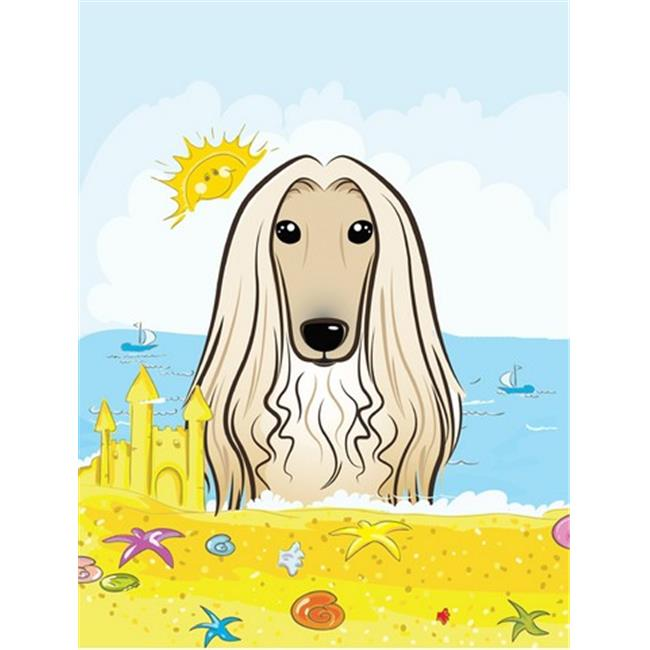Carolines Treasures BB2112CHF Afghan Hound Summer Beach Canvas House Flag - image 1 de 1