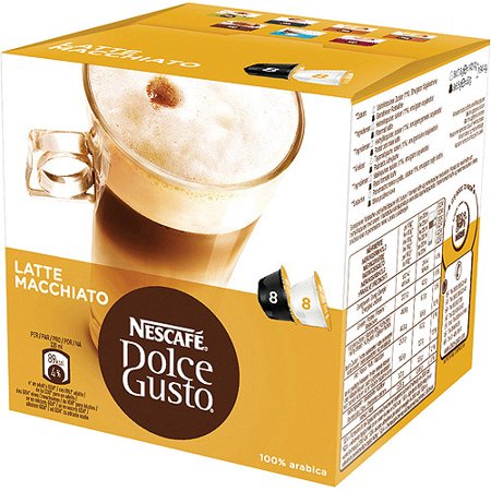 Nescafe Dolce Gusto Latte Macchiato Coffee, 16 ct (8 Beverages)