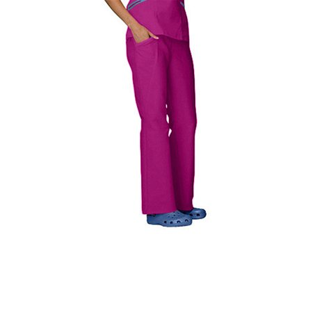 Clearance Ws Gear By White Swan Womens Comfy Twill Flat Front Elastic Waist Scrub Pants