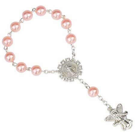 AkoaDa Angel Pendant Rosary Bracelet Catholic Bracelet Cross Bracelet Crucifix Sacred Gift Catholic Rosary Bracelets