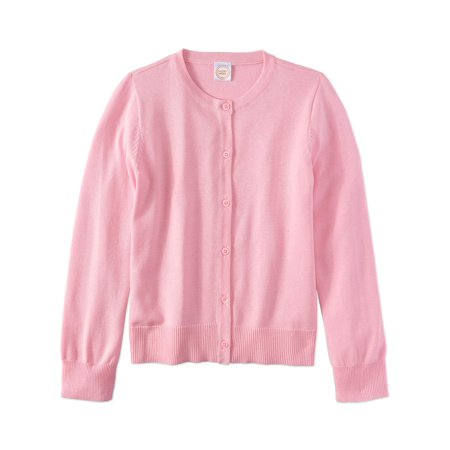 School Apparel V-neck Cardigan (Wonder Nation School Uniform Knit Cardigan (Little Girls & Big Girls) )