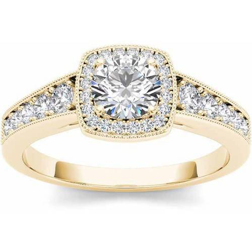 Imperial 1-1/4 Carat T.W. Diamond Single Halo Vintage Eng...