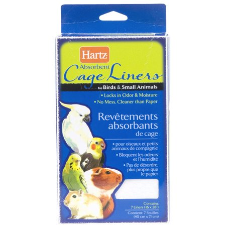(2 Pack) Hartz Absorbent Cage Liners For Birds And Small Animals - 7 (Bird Small Animal Glass)