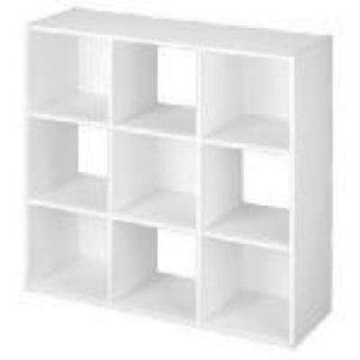 9 cube closetmaid white cubeicals stackable storage organizer 1 2. Black Bedroom Furniture Sets. Home Design Ideas