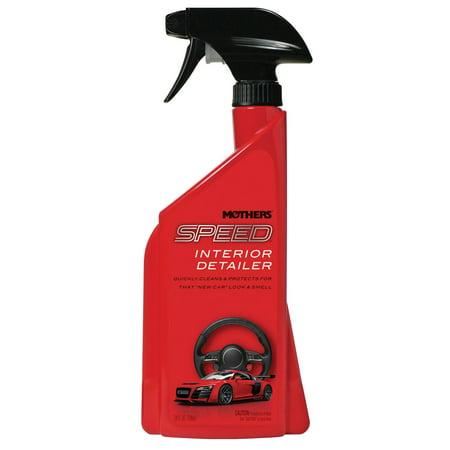 Mothers Polish 24 Oz Speed Spray Exterior Wax + 24 Ounce Car Interior