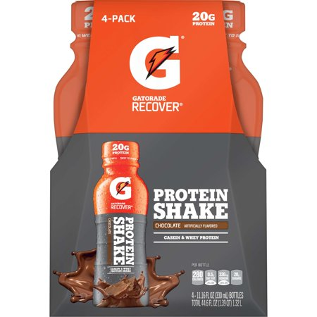 Gatorade Recover Chocolate Protein Shake 4 11 16 Fl  Oz  Plastic Bottle