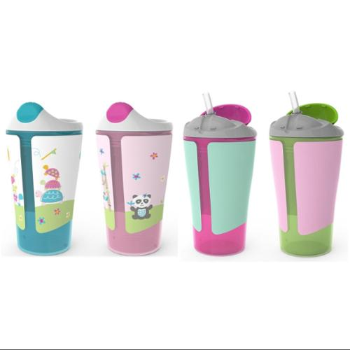 Born Free Grow with Me 10 oz Sippy Cup & Straw Cup Set, Pink