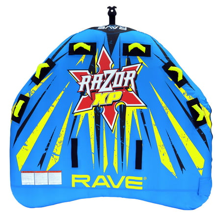 RAVE Sports Inflatable 3 Person Rider Towable Boat Lake Water Tube Razor