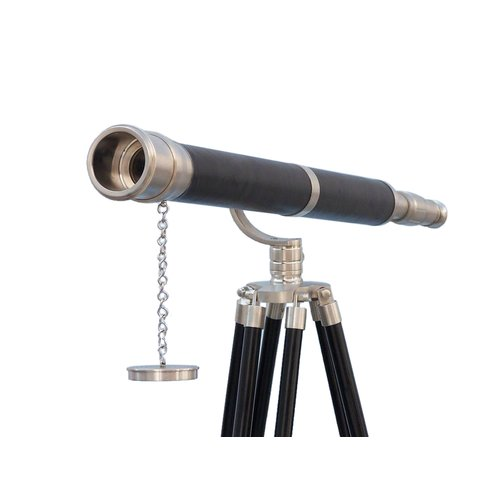 Handcrafted Nautical Decor Floor Standing Galileo Refracting Telescope by Handcrafted Model Ships