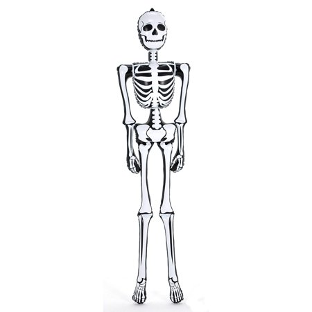 Ganz Halloween Skeletons (Rinco Giant Skeleton Halloween 6 ft Inflatable Toy, White)