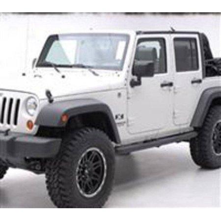 - Smittybilt 2007-2018 Jeep Wrangler JK 4 Door SRC Classic Rock Rails OEM Style Black Textured 76636