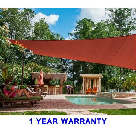 Quictent New 26 X20 Rectangle Patio Garden Sun Shade Sail Xl Canopy