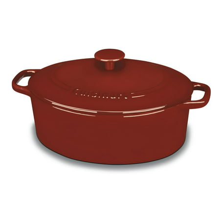 Cuisinart Chef'S Classic Enameled Cast Iron 5.5 Qt. Oval Covered Casserole-Cardinal