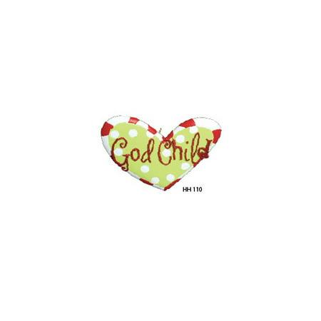 Godchild Gift - Godchild Heart Personalized Christmas Ornament DO-IT-YOURSELF