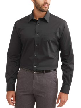 George Men's Long Sleeve Performance Slim Fit Dress Shirt, Up to 3XL