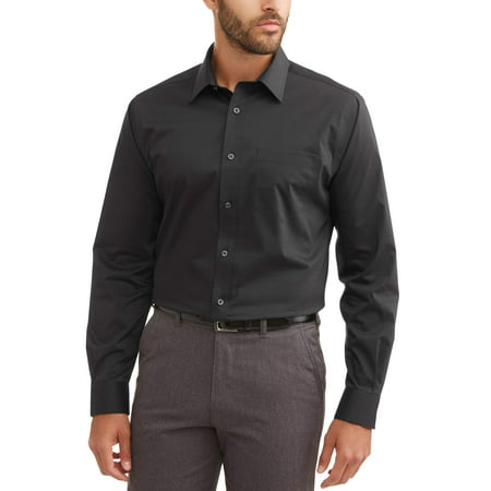 Long Sleeve Mens Performance Slim Fit Dress Shirt