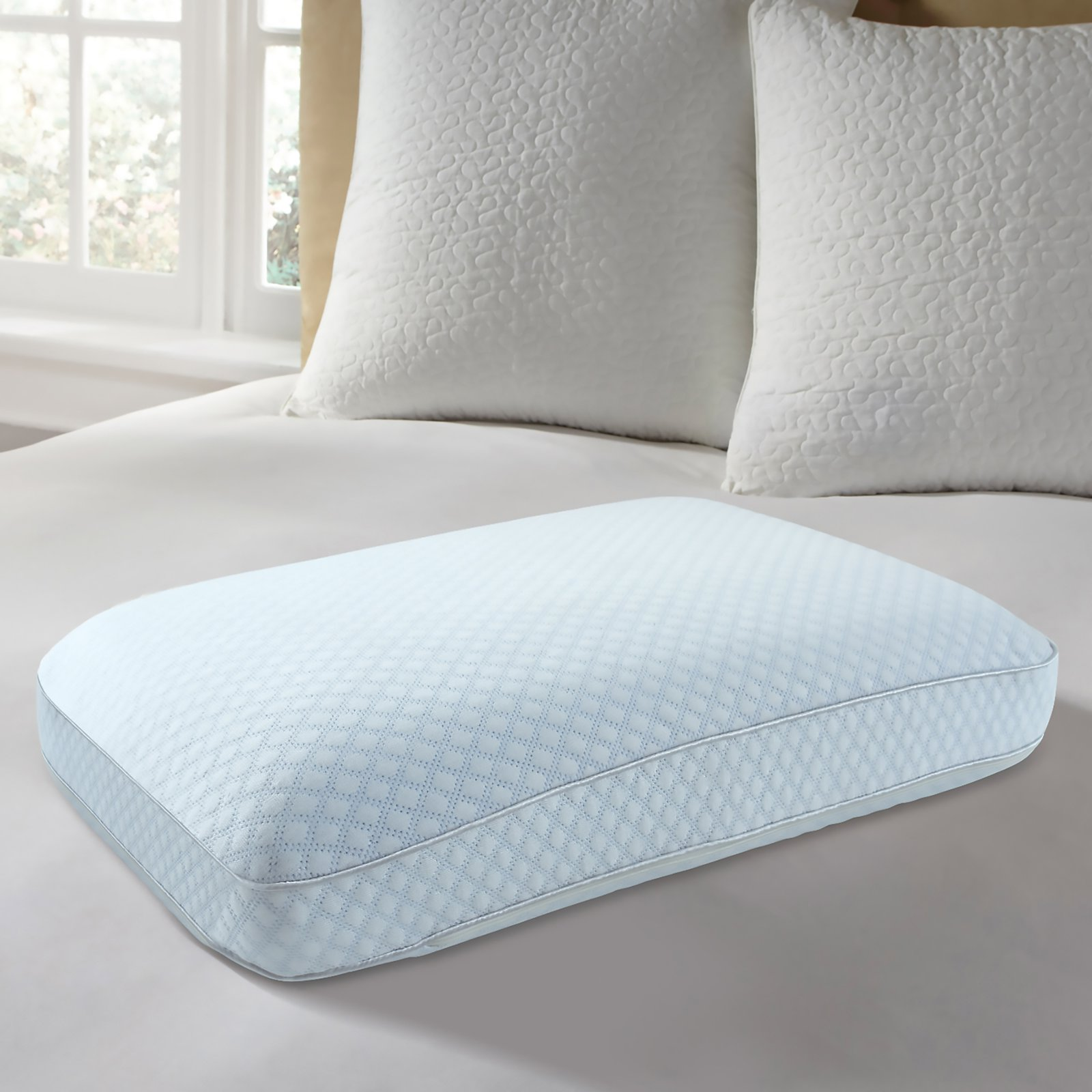 EUROPEUDIC Big and Soft Cooling Gel Ventilated Memory Foam Gel Pillow