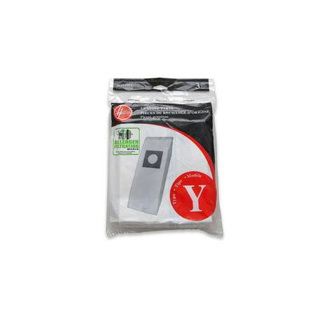 Type Y Allergen Bag (3-Pack), 4010100Y, For all WindTunnel models By HOOVER