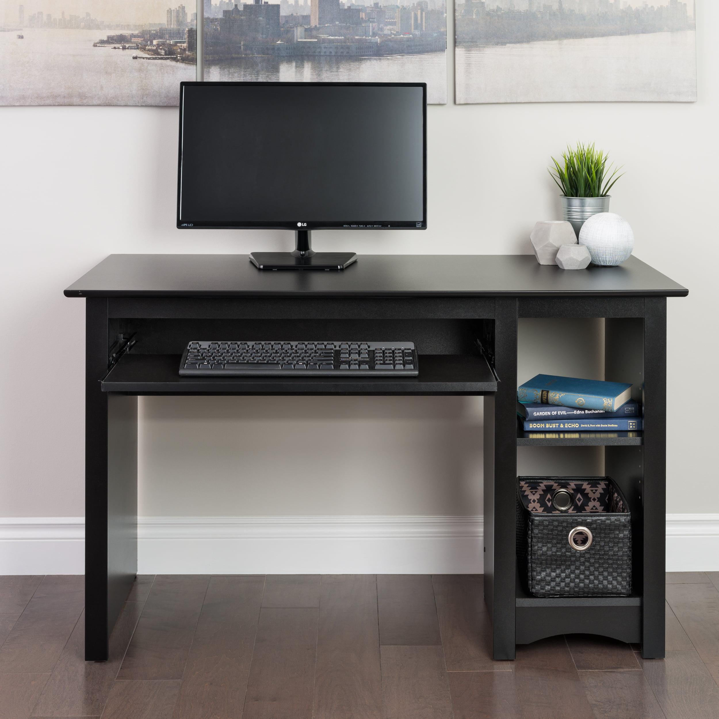 Black Wood Computer Student Desk Office Business Bedroom Table
